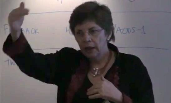 Beverley Oliver presenting