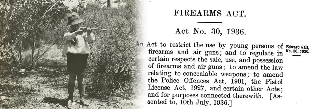 The little people of NSW's Firearms Act 1936
