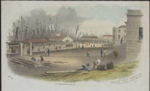 Melbourne Wharf looking South. West from Custom House enclosure