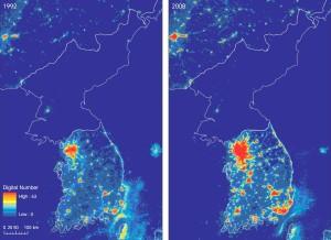 DPRK-ROK Satellite Night