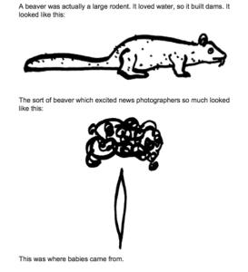 Vonnegut drawing 'Beavers'