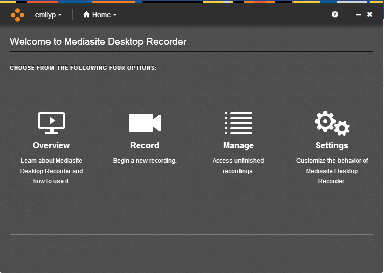 Mediasite Desktop Recorder