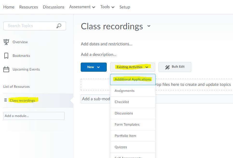 class recordings screenshot