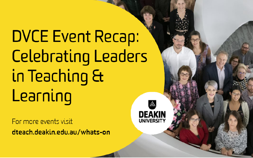 DVCE Events – Celebrating Leaders in Teaching and Learning