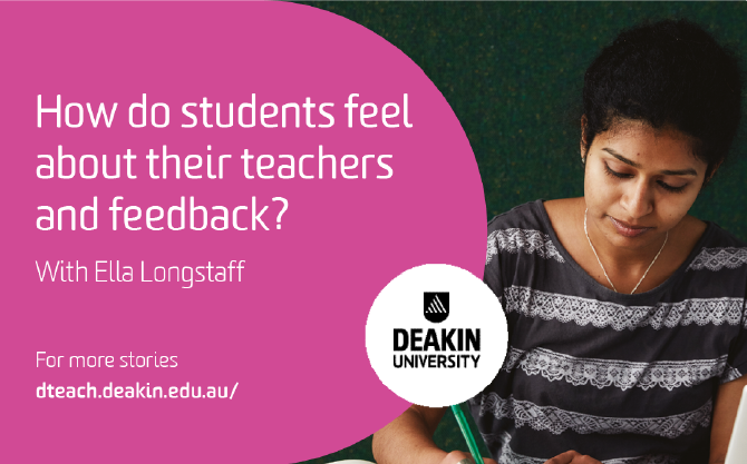 How do students feel about their teachers and feedback?