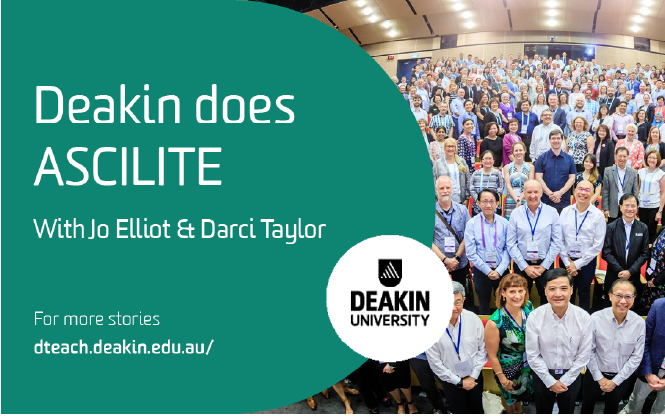 Deakin Does ASCILITE with Jo Elliot and Darci Taylor