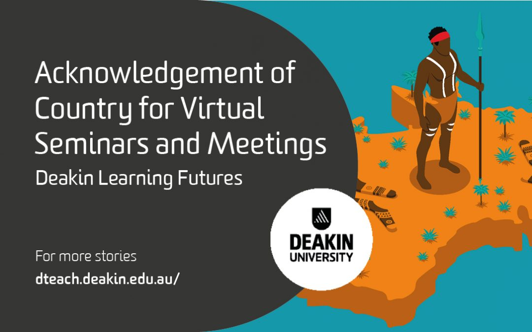 Acknowledgement of Country for Virtual Seminars and Meetings