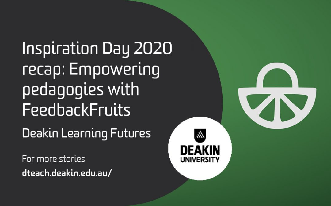 Inspiration Day 2020 recap: Empowering pedagogies with FeedbackFruits