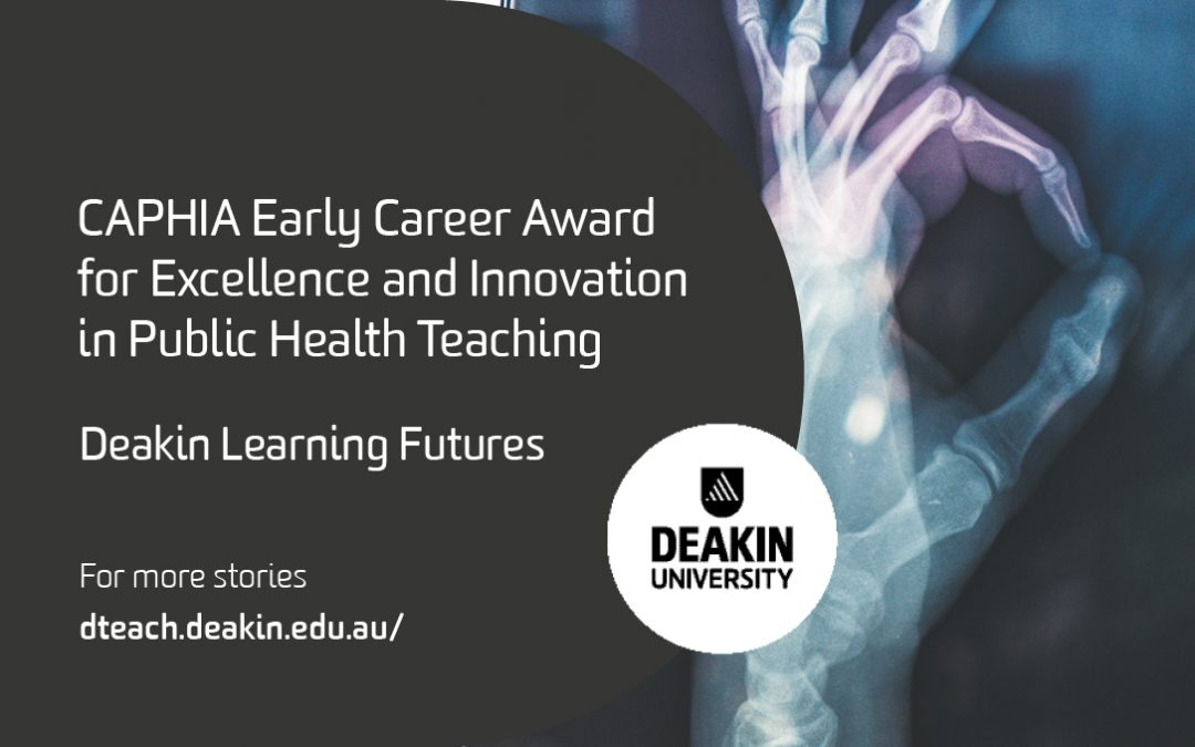 CAPHIA Early Career Award for Excellence and Innovation in Public Health Teaching
