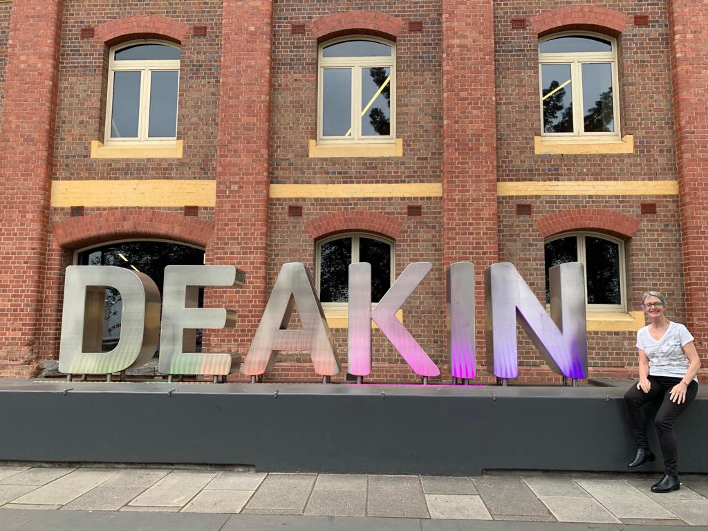 Viki Forrest at Deakin University's Waterfront Campus in Geelong